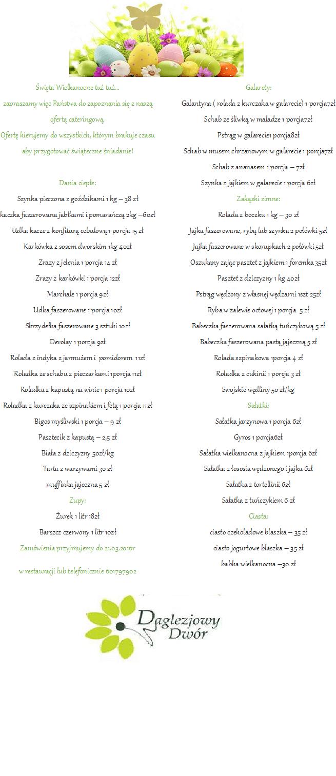 Catering na Wielkanoc Toruń
