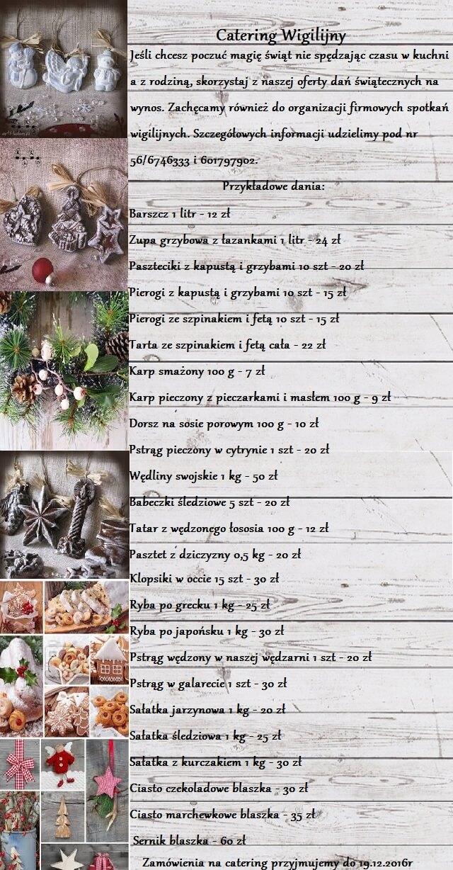 Catering Wigilia 2016